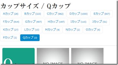 カップサイズ - Qカップ - AVアイドル事典